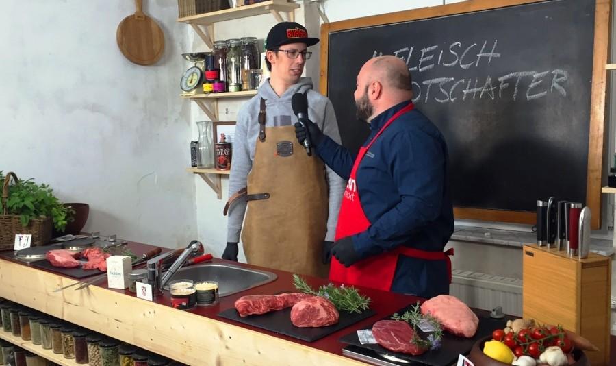 Fleischbotschafter beim Wissen schmeckt-Grillspecial